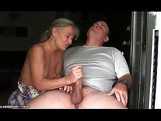 Big Cock Couple Handjob Huge Cock Jerking Mature MILF