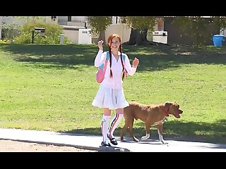 Dolly Little Masturbation Outdoor Redhead Teen