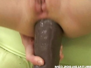 Anal Ass BDSM Blonde Dildo Masturbation Solo Toys