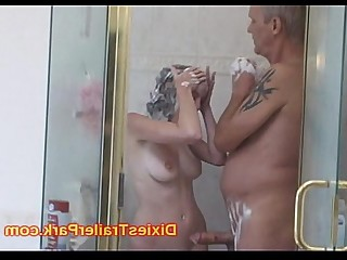 Ass Daddy Daughter Licking Old and Young Prostitut Rimming Shower