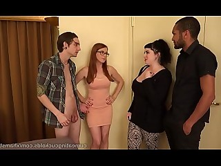 Ass Black Big Cock Glasses Redhead Threesome